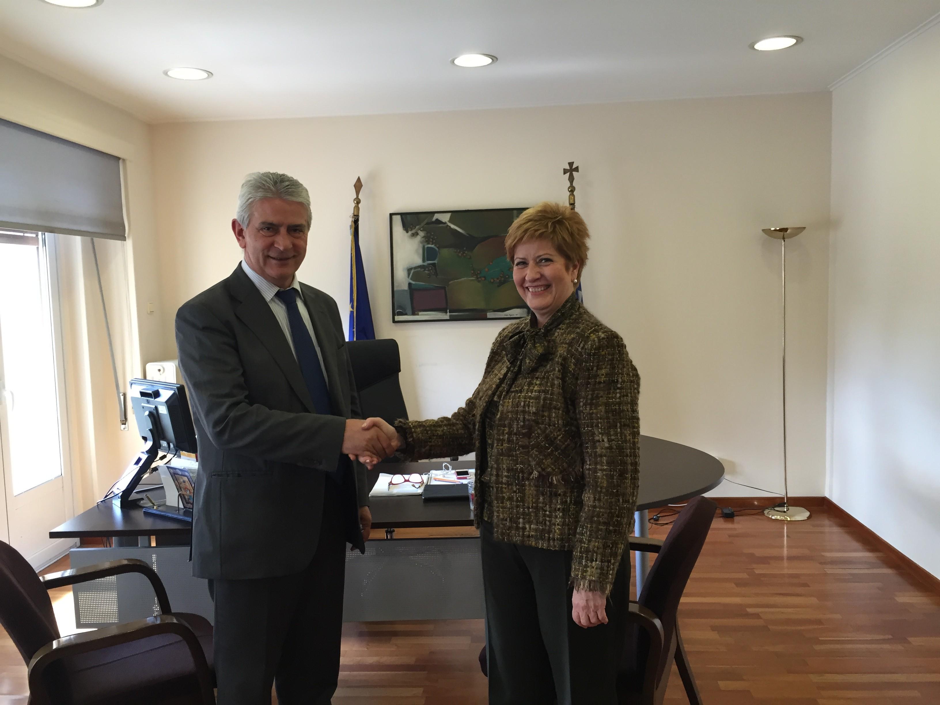Συνάντηση του Βουλευτή με την Υφυπουργό Μακεδονίας – Θράκης