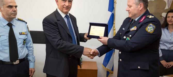 Εκδήλωση στο Αρχηγείο της Ελληνικής Αστυνομίας για τη δωρεά χρηματικού ποσού για την οικονομική ενίσχυση του λογαριασμού αρωγής ορφανών τέκνων