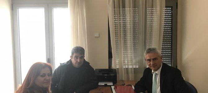 Συνάντηση με προεδρείο του Πανελληνίου Συλλόγου Αποστράτων Εθελοντών Μακράς Θητείας