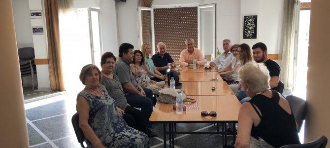 Συνάντηση με το προεδρείο και τα μέλη του ΔΣ της Θρακικής Εστίας Θεσσαλονίκης